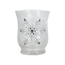 Vase en verre flocon de neige