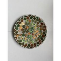 Coupelle vert cuivre & or
