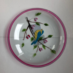 Coupelle oiseau rose