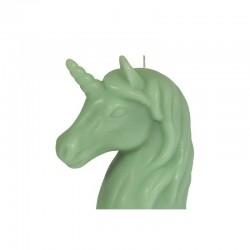 Grande Bougie Licorne Vert