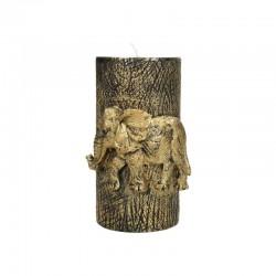 Bougie pilier éléphant