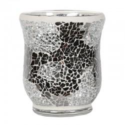 Vase Mosaïque Argent Miroir
