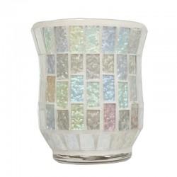 Vase Mosaïque Blanc Glacée