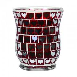 Vase Coeur Rouge Miroir